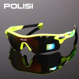 Wholesale Sunglasses Ultralight - Wholesale- POLISI New Cycling Glasses Eyewear Eyeglass UV400 Bicycle Bike Sunglasses Unisex Ultralight Riding Goggles Oculos 5 Lenses