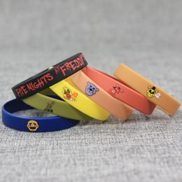 Wholesale Funny Bracelets - Bracelet Five Nights At Freddys Wrist Strap Silicone Bracelets Funny Decorations Variety Of Mult Color Best Gift For Kid Props 7 5sb H1