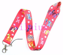 rainbow badge Coupons - New Lot 30Pcs Cartoon Rainbow Pony Fashion Lanyards Straps For ID Badge Mobile Phone Free Shipping