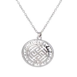 Wholesale Copper Symbols - Silver Plated Slavic Talisman Symbol Rodimich Collar Ethnic Necklace Minimalist Cheap Women Pendants Jewelry Kolye Bayan