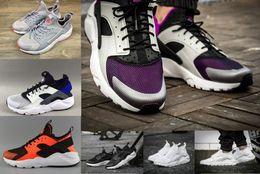 Wholesale Breathe Design - 2018 New Design Air Huarache IV 4 All Black Mesh Huraches 4 Sneakers Ultra Breathe Men And Women Huaraches casual Shoes Size 36-45