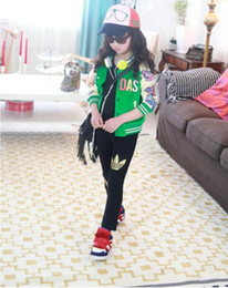 Wholesale Trousers For Kids - 2017 new AD girls Pants Children's Girl's leggings Kids Solid Cotton Long Tight Pants for 2-8 years Baby girls Sweatpants girls Trousers