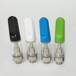 Wholesale m3 clearomizer - coloful Ceramic tip TH205 TH210 Thick oil vape clearomizer disposable no leak Glass wax oil atomizer .5 1ml fit M3 Battery