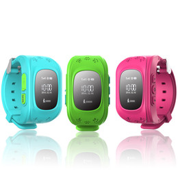 Wholesale Sos Devices - Q50 GPS Tracker Watch For Kids SOS Emergency Anti Lost Bracelet Wristband Two Way Communication Smart Phone App Wearable Devices Finder OLED