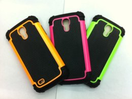 Wholesale Galaxy S4 Active Cases - Shockproof 2 in 1 Rugged Mesh Rubber Case Football Skin Silicone Case Cover For Samsung Galaxy E5 E7 Ace 4 G313H S5 S4 active Light