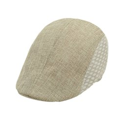 Wholesale Look Man Winter Fashion - Wholesale-Good-looking Casual Fashion Summer Men Beret Cap Hat Newsboy Caps Sun Ourtdoor 5 Colors Free Shipping