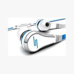 Wholesale Chinese Sms Audio Headphones - HOT Seller Mini SMS Audio 50 Cent In-Ear Earphones Headphones With Mic For Mp3 Mp4 Cell phone tablet pc
