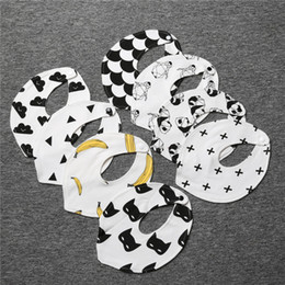 Wholesale Wholesale Batman Cloth - Cotton Baby Bibs for Boys Girls Triangle Towel Toddler Burp Cloth Cloud Batman Print Cute Fashion Fall Winter