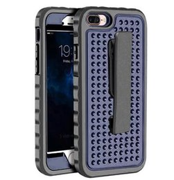 Wholesale Iphone Hard Case Holster Clip - For iphone 7 7Plus 6 6S Plus Belt clips Holster Hybrid Hard Plastic Silicone cover case cases 1pcs 5pcs
