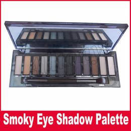 Wholesale Quality Makeup - High Quality NUDE Smoky Eyeshadow Palette Makeup Newest 12 Colors Makeup Cosmetic Shimmer Matte Eye Shadow With Brush