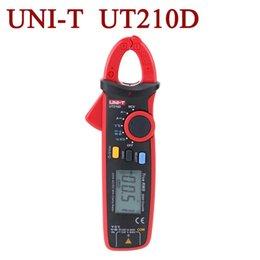 Wholesale Ac Current - UNI-T UT210D Digital Clamp Meter Multimeters AC DC Current Voltage Meter Temperature Measure Multitester Auto Range Multimetro