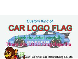 2019 materiales de llavero al por mayor CUSTOM tipo de logotipo de la marca del coche BANDERA, compruebe el detalle, 90 * 150 CM, 100D polyster personalizado 100% poliéster 90 * 150 cm, impresión digital