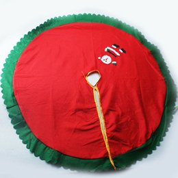 Wholesale Santa Skirts - Santa Claus Christmas Tree Skirt New Cartoon Non Woven Trees Skirts For Home Decoration Supplies Red 6yz C
