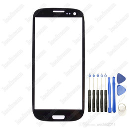 Wholesale S3 Screen Tools - Front Outer Touch Screen Glass Cover Replacement for Samsung Galaxy s3 i9300 T999 i747 with Tools