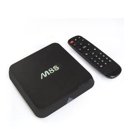 Wholesale Tv Wifi Keyboard - M8S android5.1 TV box Amlogic S812 2G 8G m8s TV BOX fully loaded 2.4G WiFi M8S2 Keyboard Mouse.