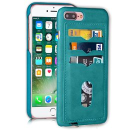 Wholesale Smartphone Slim - Holster For iphone 6 7 Plus Mobile Cell Phone Cases Covers Slim Retro luxury Smartphone case POST 5PC