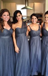 Wholesale Coral Bridesmaid Dresses China - 2016 long Tulle Bridesmaid Dresses Different Style China Convertible Multi Way Bridal Party Gowns for Weddings Guest Formal Wear 2017