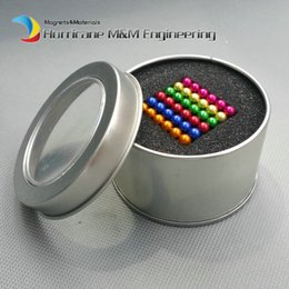 Wholesale Magnetic Magnet Balls - 216 pcs Diameter 5mm Multiple Color Magic Buckyballs Neodymium Toy Neocube Neo Cubes Magic Puzzles Toy Sphere Magnets Magnetic Bucky Balls