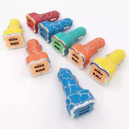 Crack Style Chargeur De Voiture Double USB LED Éclairage 2.1A + 1A Adaptateur Chargeur De Voiture Universel Pour iphone 7 7plus Samsung ipad ? partir de fabricateur