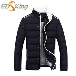 Wholesale Cheap Parka Jackets Men - Wholesale- New Arrival 2016 Men Casual Parka Stand Collar Fashion Man Winter Jacket Slim Fit Cheap-Male-Clothing Chaqueta Hombre Invierno