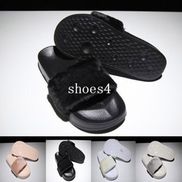 Wholesale Women Fashionable Black Bags - With dust bag red box leadcat Fenty rihanna slippers indoor shoes sandals sliding wear fashionable men and women nine color