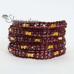 Wholesale Handcrafted Leather Bracelets - leather wrap bracelet wrap bracelet braided leather bracelets fashion jewelry handcrafted beaded jewelry genuine stone jewelry