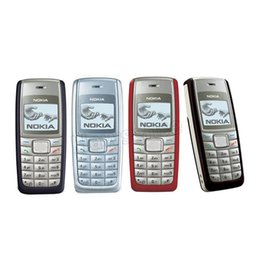 Wholesale Gsm Red - Original Refurbished Nokia 1112 Cheap Phone Unlocked Universal GSM English Russian Arabic Keyboard Multi Language Cellphone Free Shipping