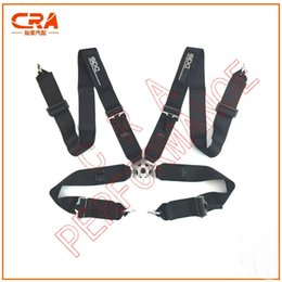 "Wholesale Acura Racing - Black 3"" 3 inch 4 points FIA 2019 Spar** Quick Release Racing Safety Belts Racing Harness"