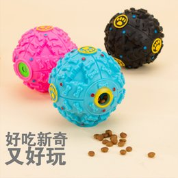 Wholesale Golden Teeth - Dog Toys Chews Sound Ball Missing Bite A Molar Tooth Toy Globular Sounding Golden Retriever Poodle Plastic Material Wearable 3 8xp J