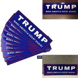 Wholesale america pack - 10pcs set Car Decals Donald Trump for President Make America Great Again Bumper Sticker 10 Pack Lot Exterior Accessories 4584