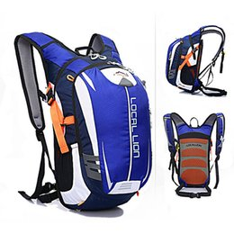 Wholesale waterproof motorcycle backpacks - Wholesale- 18L Waterproof Runnings Cycle Hydration Backpack (Optional 2L TPU Water Bladder) Ultralight Motorcycle Bicycle Bags Back Packs