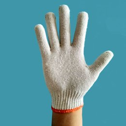 Wholesale White Cotton Work Gloves Wholesale - High Quality Safety gloves 500g This White Cotton Working gloves for Protective Gloves Workplace Safety Supplies 1 pack 12 pairs
