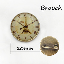 Wholesale China Gear - Steampunk jewelry Vintage Egyptian Brooches pins Glass cabochon clock gears picture pin Fashion mandala Christmas gift