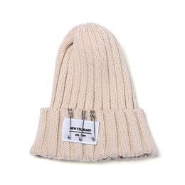 Wholesale South Korean Men Street Fashion - South Korean garment hat day warm qiu dong han edition pin pointed sets of men and women knitting hat