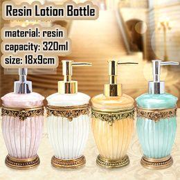 Wholesale Shower Soap Shampoo Dispensers - Kitchen Home Quality resin shower gel hand sanitizer bottle apllying shampoo bottle sub-bottling emulsion fashion soap dispenser