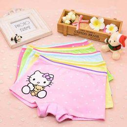 Wholesale Cartoon Boxers Shorts Wholesale - Soft girl underwear briefs boxer hello Kitty cartoon children underwear comfortable Baby Kids Clothing Panties pants shorts 1482