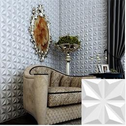 Luz decorativa de cristal de parede on-line-A parede simples moderna impermeável de cristal de diamante decorativa projetou os painéis de parede 3D de pouco peso projetados do PVC