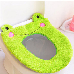 Wholesale Washable Toilet Seat Warmer - Soft Warm Long Plush Toilet Seat Cover Mat 2017 New 1PC Pad Lid Comfortable Washable Warmer Health Toilet Closestool Seat Cover