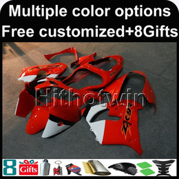 Wholesale Kawasaki Zx9r - 23colors+8Gifts red kit motorcycle cowl for Kawasaki ZX-9R 2000-2001 00 01 ZX 9R 2000 2001 00-01 ABS Plastic Fairing