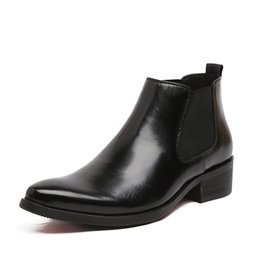 Wholesale Charming Dresses For Summer - Wholesale- 2016 Spring and Summer Boots Pointed Toe Red Bottom High Heels Bullock Patterns Oxford Dress For Men Boots