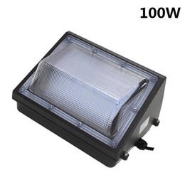 Wholesale Metal Flood Lights - 100w led wallpack commercial lighting to replace 400 watt metal halide wall pack flood light fixture