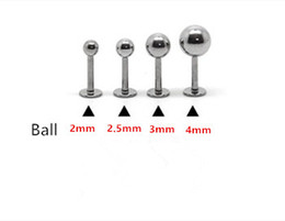 Argentina 16G Anillo labial Labret piercing Ball Plain 316L acero quirúrgico moda Joyería piercing del cuerpo 100 unids / lote 2 mm 2.5 mm 3 mm 4 mm oído Tragus Pin mujeres Suministro