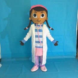 Wholesale Doctor Mascot Costumes - New Doc Mcstuffins Mascot Costume Party Doctors Dress Free Shipping Adult Size