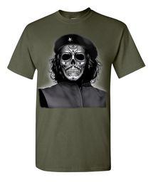 Wholesale White Zombie Shirt - Che Guevara Skull Revolution Military Viva Cuba Zombie Dead Bones 2017 Summer Men's Fashion Cool T-shirt