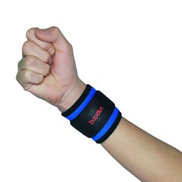 Wholesale Wrist Weights Adjustable - Wholesale- One Piece Adjustable Wrist Support Gym Wrist Brace Fitness Sports Bodybuilding Wristband Sport Crossfit Weight Lifting Straps