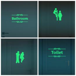 Wholesale Door Decals Wall Paper - Luminous Switch Stickers Bathroom Decoration Toilet Door Vinyl Switch Stickers Fluorescence Decals Glow in Dark Home Decor
