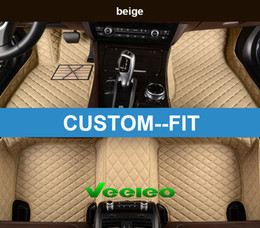 Wholesale Bmw Floor - Veeleo+ Custom Fit 6 Colors Leather Car Floor Mats for BMW-M1 M3 M4 M5 XM5 XM6 Waterproof Anti-slip 3D car Mats Front & Rear Carpets Line