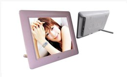 Wholesale Digital Photo Frame Usb - Free shipping TFT LCD digital photo frame seven inches wide screen desktop digital photo frame glass frame playback SD SDHC CARDS and USB fl
