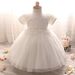 Wholesale Designing Baby Dresses - 2017 new arrival new born baby girl tutu dress lovely baby party lace baby dress designs