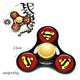 Wholesale Superman Best Toys - New hot sale Superman metal alloy three-leaf fidget hand spinner kids like the best Fingertip gyro finger gyro